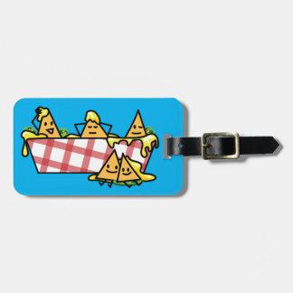 Nachos Melted Cheese Jalapeno Nacho tortilla chips Luggage Tag