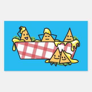 Nachos Melted Cheese Jalapeno Nacho tortilla chips Rectangular Sticker