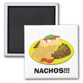 Nachos Square Magnet