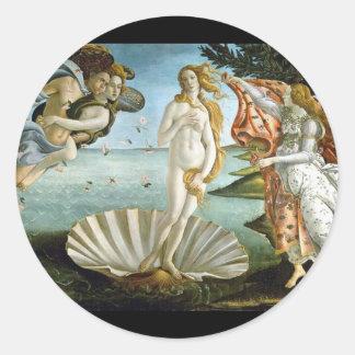 Nacimiento-Venus-Botticelli Classic Round Sticker