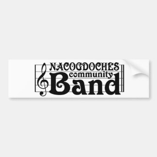 Nacogdoches Community Band bumper sticker