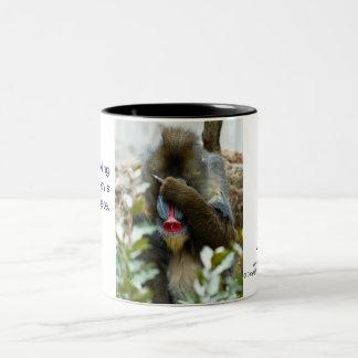 Nada-Monkey #104 Two-Tone Coffee Mug