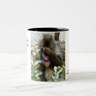 Nada-Monkey #38 Two-Tone Coffee Mug