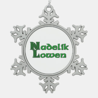Nadelik Lowen - Cornish Christmas Snowflake Snowflake Pewter Christmas Ornament