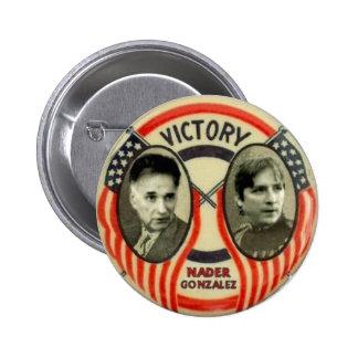Nader and Gonzalez 6 Cm Round Badge