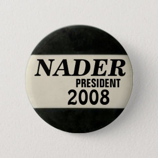 Nader Black & White Button