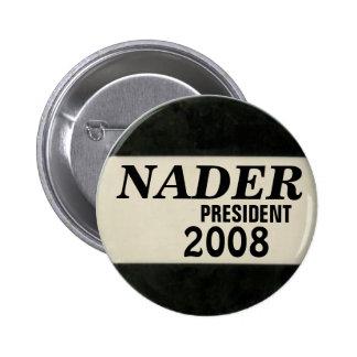 Nader Black & White Button