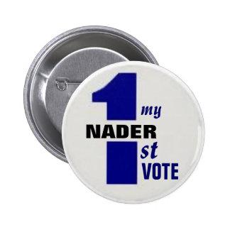 Nader First Vote Button