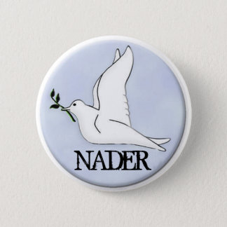 Nader Peace Dove Button