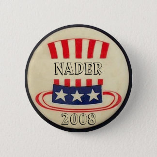 Nader Uncle Sam Top Hat Button