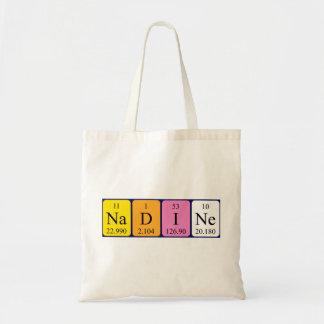 Nadine periodic table name tote bag