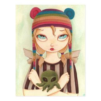 Nadya - Fairy girl Cthulhu Postcard