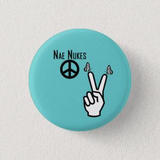 Nae Nukes Scottish Independence Peace Sign Pinback 3 Cm Round Badge