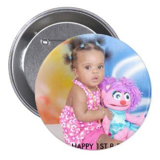 NAELANI'S 1ST BIRTHDAY! 7.5 CM ROUND BADGE