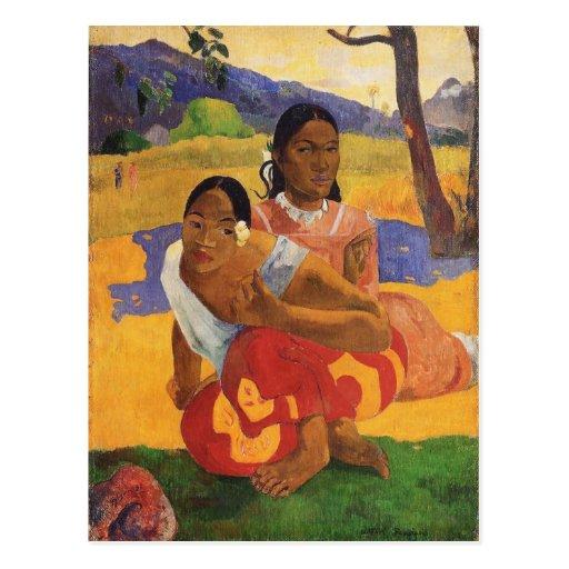'Nafea Faa Ipoipo' - Paul Gauguin Post Card