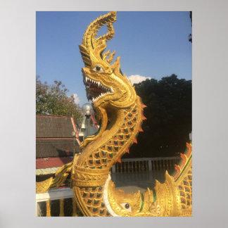 Naga at Doi Suket, Chiang Mai, Thailand Poster