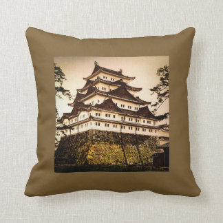 Nagoya Castle in Ancient Japan Vintage 名古屋城 Cushion