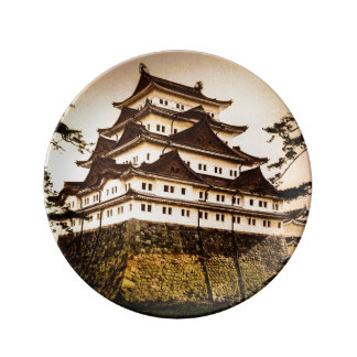 Nagoya Castle in Ancient Japan Vintage 名古屋城 Plate