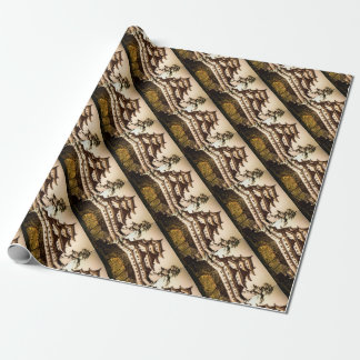 Nagoya Castle in Ancient Japan Vintage 名古屋城 Wrapping Paper