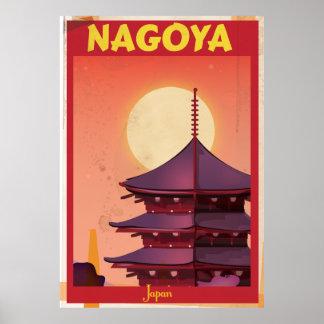 Nagoya, Japan Vintage Travel Poster
