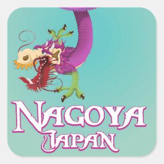 Nagoya Japan vintage travel poster. Square Sticker