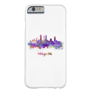 Nagoya skyline in watercolor barely there iPhone 6 case