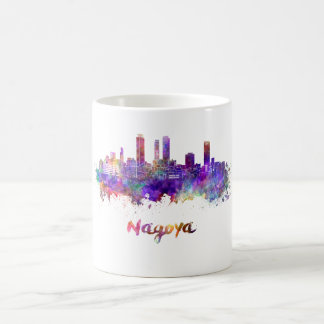 Nagoya skyline in watercolor coffee mug