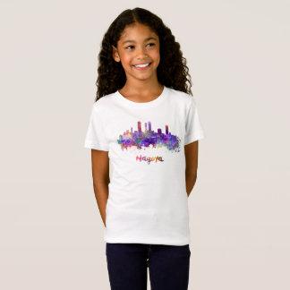 Nagoya skyline in watercolor T-Shirt