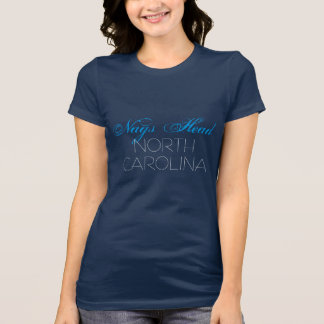 Nags Head North Carolina Blue and Black custom T-Shirt
