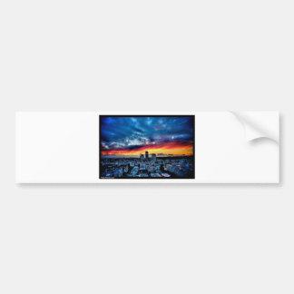 Naik Michel Photography - Sunset over Santa Monica Bumper Sticker