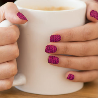 Nail Art Abstract Design Red-Violet