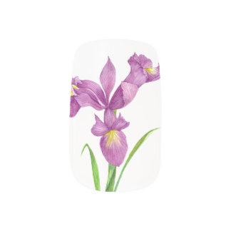 Nail Art Purple Iris Vintage