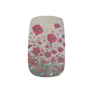 Nail Art Red Poppies