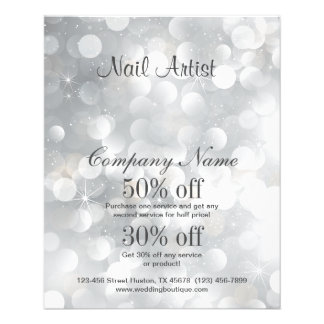 nail artist business personalised flyer