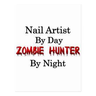 Nail Artist/Zombie Hunter Postcard