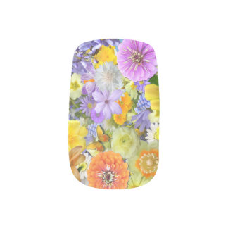 Nail Coverings - Flowers and Butterflies Nail Wrap