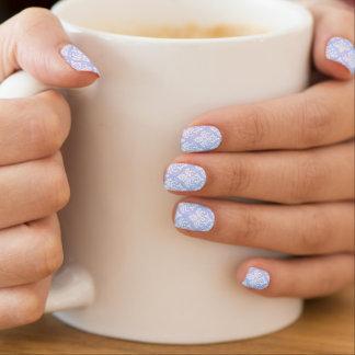 Nail Coverings - MINX - Wedgewood Blue Damask Minx Nail Art