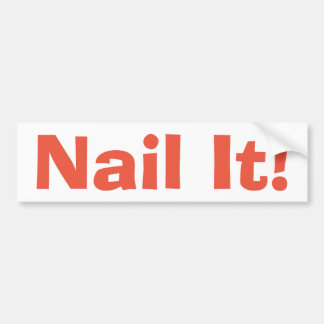 Nail It! bumper sticker