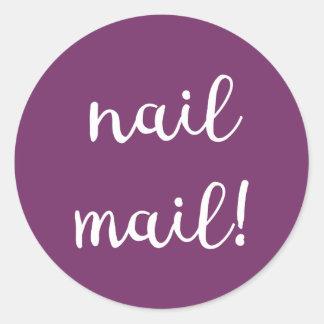 Nail Mail! Purple Sticker