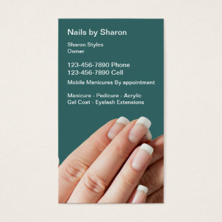 Nail Manicure Business Cards
