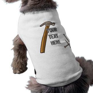 nail, nail2, nail3, hammer2, YourTextHere, Your... Sleeveless Dog Shirt