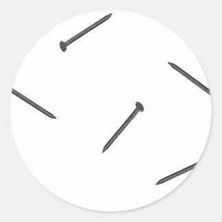 nail pattern classic round sticker