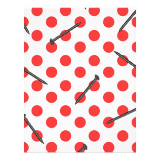 nail pattern with dots flyer design