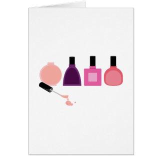 Nail Polish Bottles Card