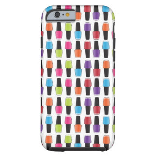 Nail polish pattern tough iPhone 6 case