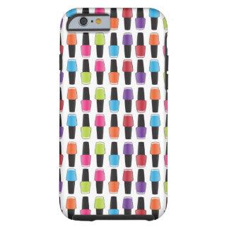 Nail polish pattern tough iPhone 6 case