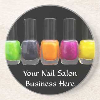 Nail Salon Business, Bright Polish Bottles Coaster