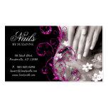Nail Salon Business Card Glitter Pink