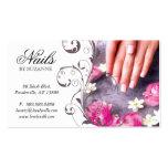 Nail Salon Business Card Pink Taupe