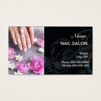 Nail Salon Customer Loyalty Punch Business Card